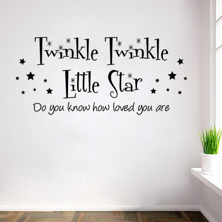 Twinkle Little Star Wall Stickers The Sitting Room The Bedroom Setting Wall  Stickers Indoor Wall Post Personality Wall Stick 5pcs/lot Part 33