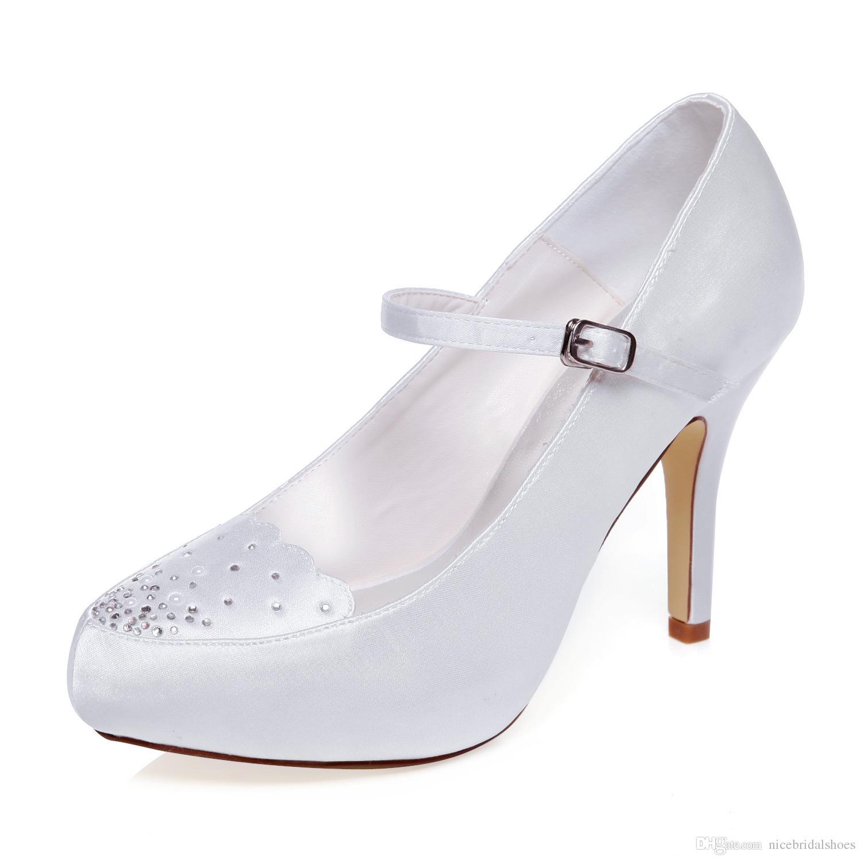 f48a309e1 Sapato Social Feminino 10 Cm De Salto Marfim Cor Plataforma Estilo Mary  Jane Sapatos De Noiva Sapatos De Casamento Sapatos De Vestido Sapatos  Artesanais ...