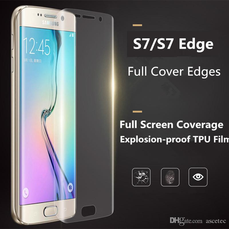 f376cc7ee86 3D Fully Covered Curved TPU Screen Protector Film For Samsung Galaxy Note 7 S7  S7 edge fornt +back S6 Edge Plus Full body Protector Film