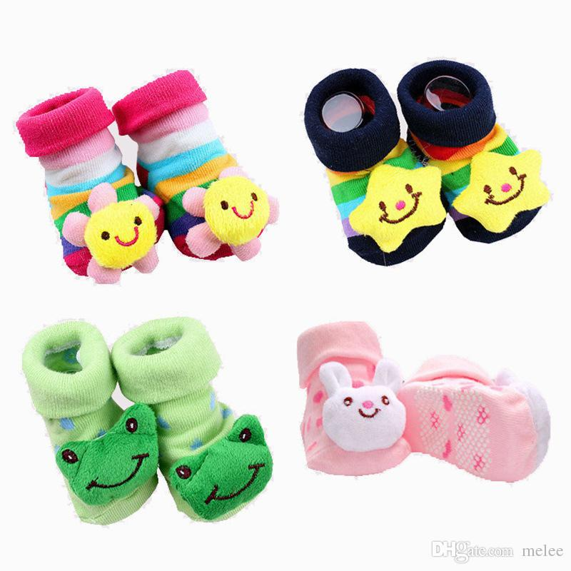 الطفل الحيوان 3d الجوارب الوليد طفل بنين بنات أحذية الرضع الفتيات مكافحة زلة المشي أحذية الأطفال الدافئة جورب أطفال هدية 18 ألوان اختيار
