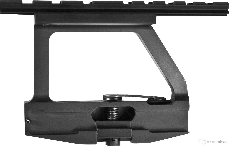 Vente chaude tactique AK Montage latéral QD dégagement rapide en aluminium Ak74u Montage latéral pour AK47 Livraison gratuite