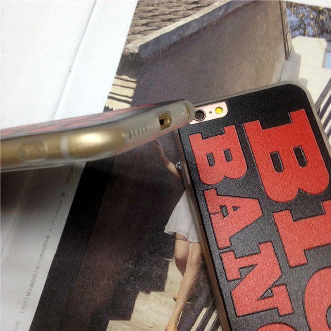Caja de teléfono celular flexible flexible de acrílico TPU 3D Big Bang en relieve Patrón cubierta trasera Caja del teléfono móvil para Iphone6 Iphone6plus