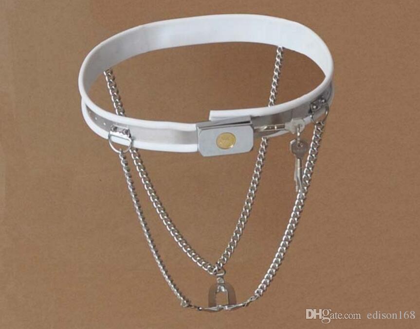Tipo a Y regolabile in acciaio inossidabile Catena invisibile Cintura di castità Dispositivo prevenire la masturbazione Scudo BDSM adulto Giocattolo del sesso i