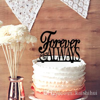 2019 Engagement Cake Topper Forever Always Wedding Anniversary
