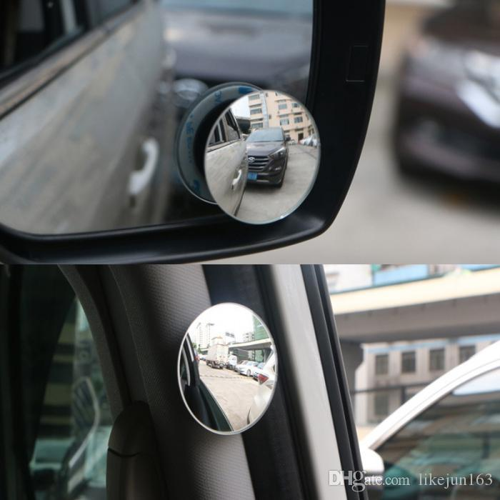 360 Degree HD Glass Frameless Blind Spot Mirror Car Styling Wide Angle Round Convex Rear View Parking Mirrors