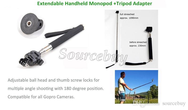 Action Cameras GoPro Accessories 13-in-1 Kit Head Chest Mount Floating Pole Sports Camera Go Pro Hero 12 3 4 Series SJCAM SJ4000 SJ5000