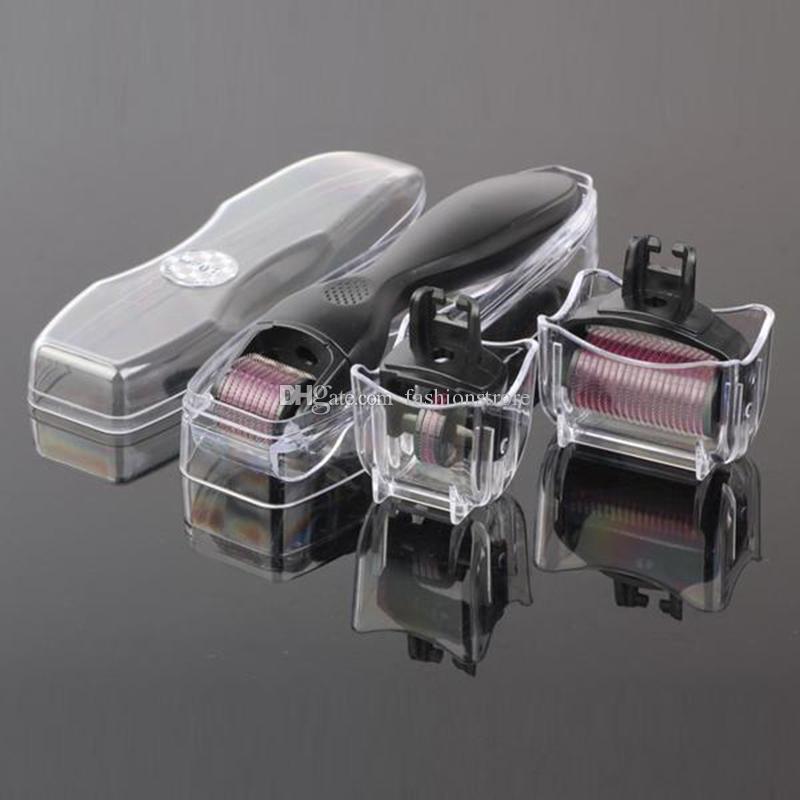3 in 1 0,5 mm 1,0 mm 1,5 mm Mikronadel Derma Roller Haut Gesichtspflege Kit Therapie