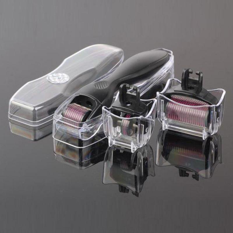 Terapia del kit la cura del viso della pelle a rullo con aghi micro Derma 3 in 1 da 0,5 mm 1,0 mm 1,5 mm