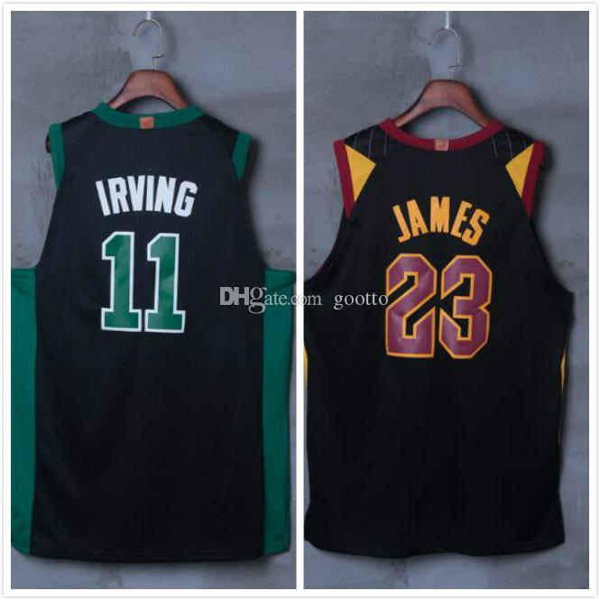 f700f93eb8f ... order 2017 2018 new jerseys mens 11 kyrie irving jersey 23 lebron james  stitched jersey free