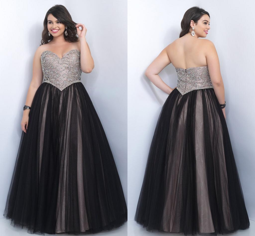 luxury plus size prom dresses a line sweetheart major beading