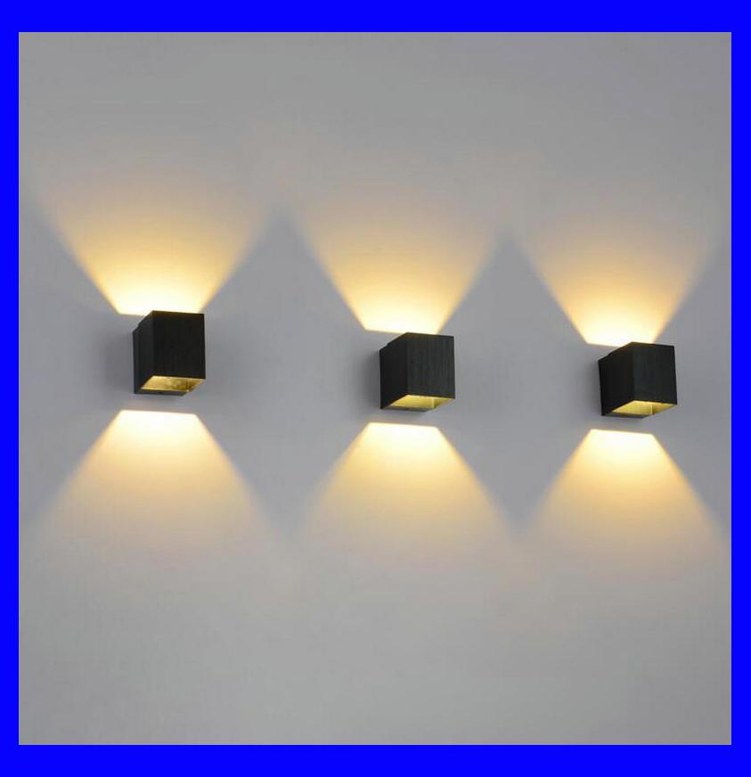 Led Indoor Wall Lamps Surface Mounted Cube Led Wall Light Metal Case Cob Led Chip Up And Down Wall Lighting Fixture Ac85-265v Led Lamps