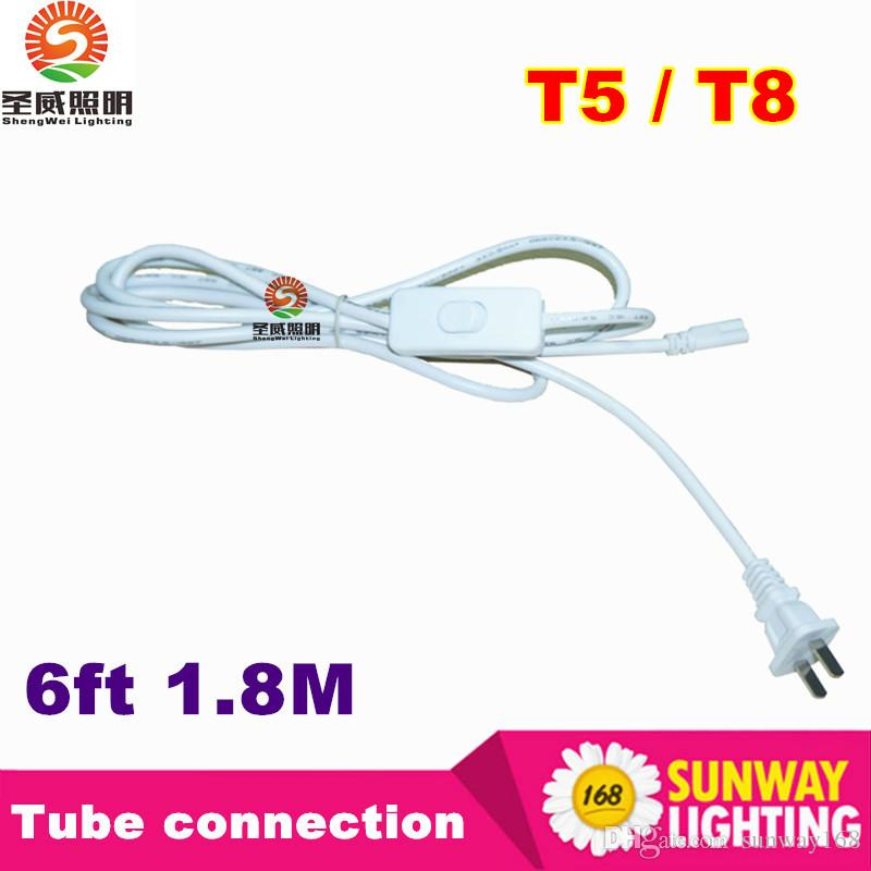 Online Cheap Us Plug 6ft T5 T8 Led Tube Wire Switch Connector With ...