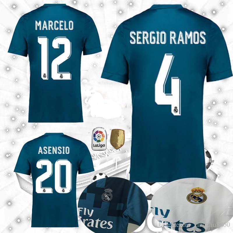 Compre 2017 2018 Real Madrid ASENSIO Casa 3 Azul ZIDANE BECKHAM Camisa De  Futebol 17 18 RONALDO BALE SERGIO RAMOS Camisas ISCO KROOS MODRIC De  Xiaozhu8860 2b2b23dde7527