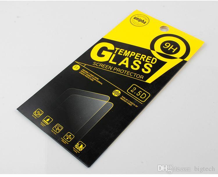 200 قطع بالجملة العالمي التغليف مربع ل 2.5d أنيقة جولة حافة 9 h مكافحة صدمة الزجاج المقسى حامي الشاشة ل lg v20 فون 6 ثانية / 7