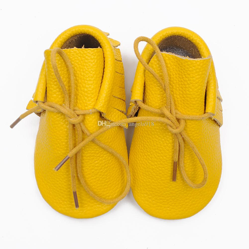 Tassel fringe Moccasins shoes boot Baby Walker shoes Toddler soft 100% Genuine Leather infant Bootie 0-24M DHL shipping C712