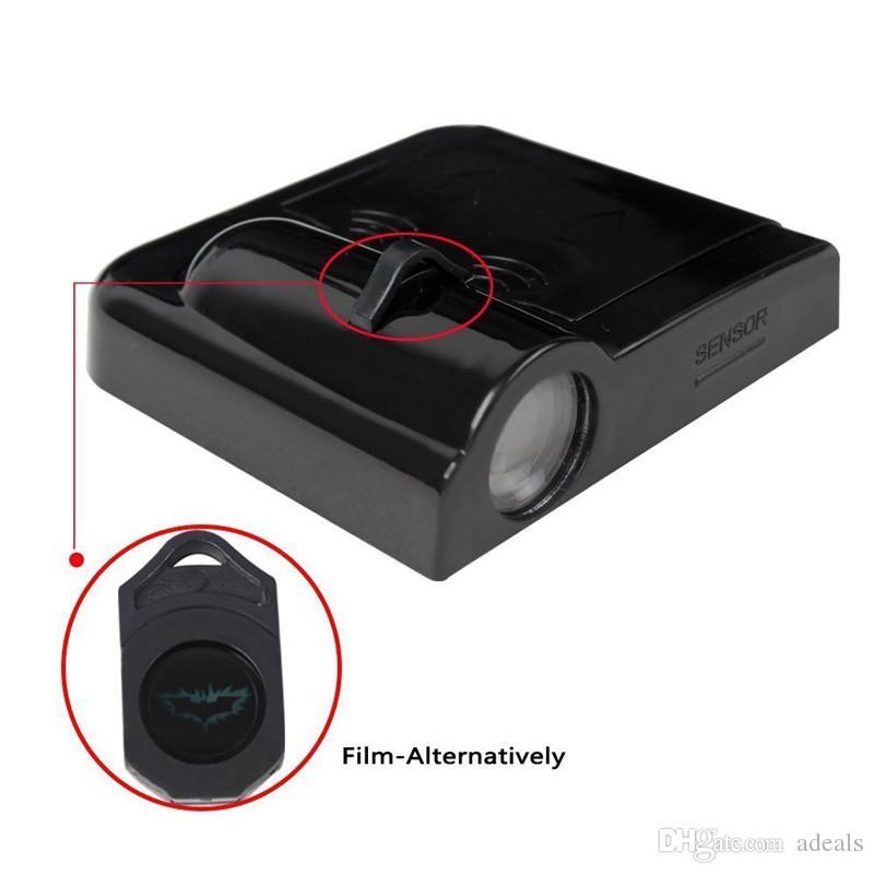 e Sans Fil LED Porte de la Voiture Lumière Lampe de Bienvenue Projecteur Cool Logo ombre fantôme lumière Batman Logo Aucun Type De Forage