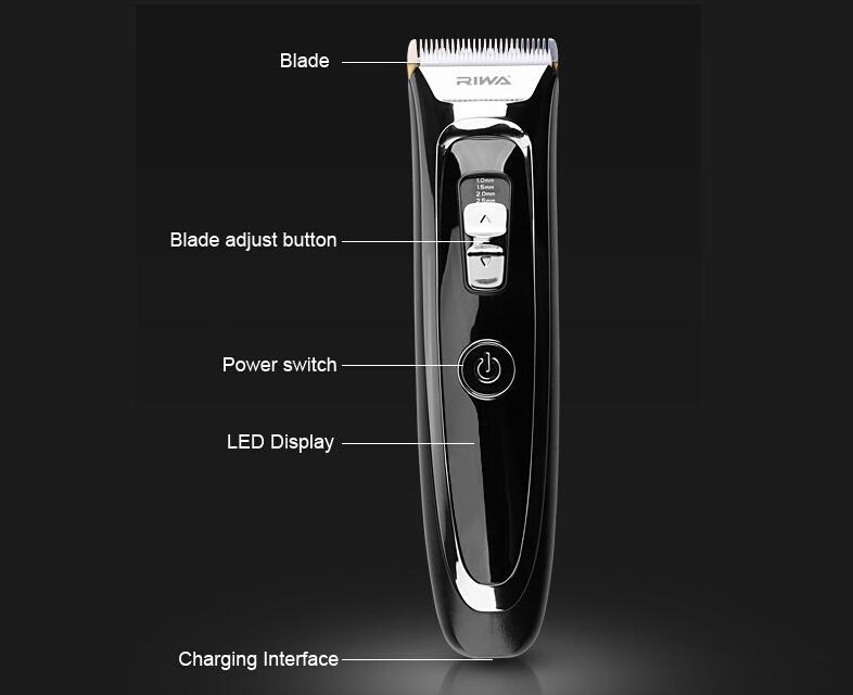 RIWA New Arrival Rechargeable Hair Clipper K5 LED Display With Charging Stand 1hrs Charge Time Mens professional hair trimmer