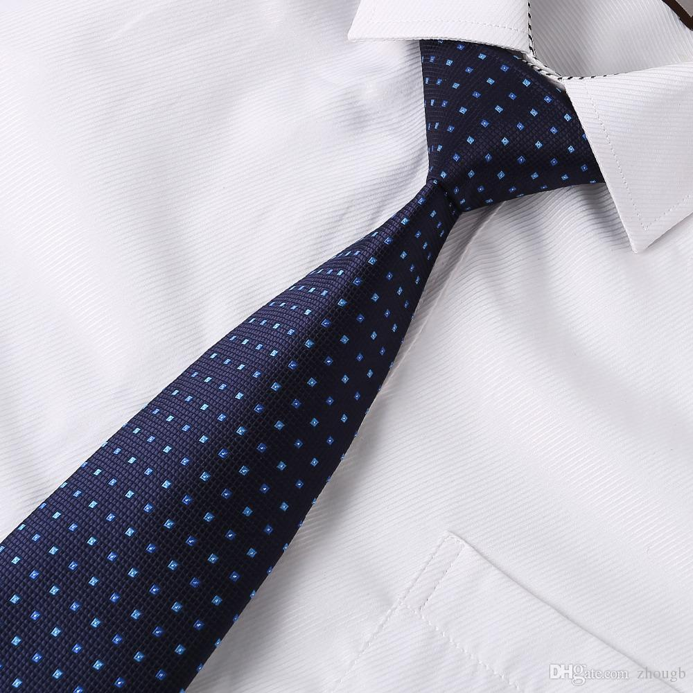 e42e5c7df170 Ikepeibao Mens Ties Navy Blue Polka Dots Neckwear Corbatas Gravata Hombre  Jacquard Necktie Set Suit Business Wedding Blue Ties Wedding Tie From  Zhougb, ...