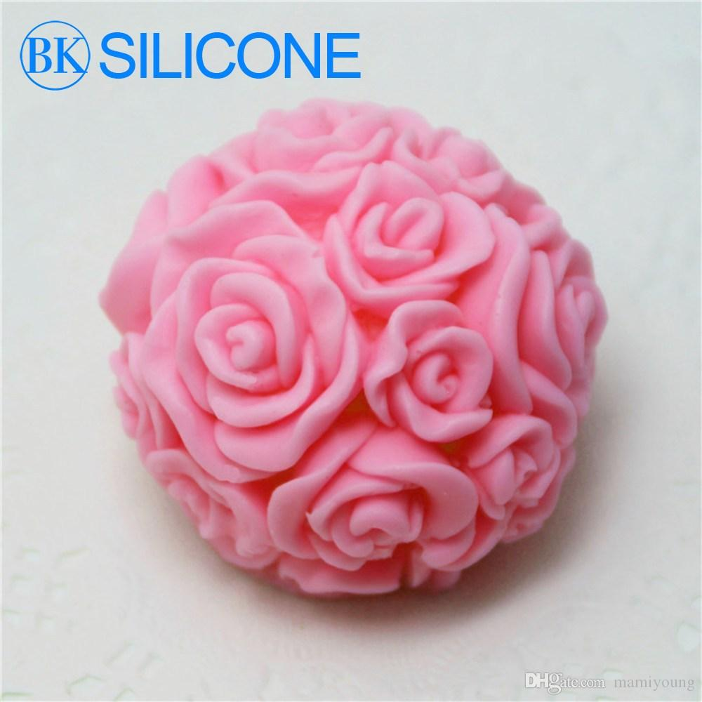 2015 Time-Limited Rose Silicone Soap Molds Candle Mould Cake Decorating Tools AF003 BKSILICONE