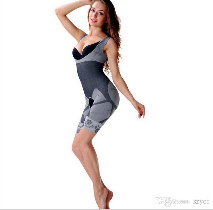 Talladora del cuerpo de la Mujer de Alta Calidad Slim Corset Slimming Suits Bodywear Shapewear Ropa Interior de Esculpir de Carbón de leña de Bambú