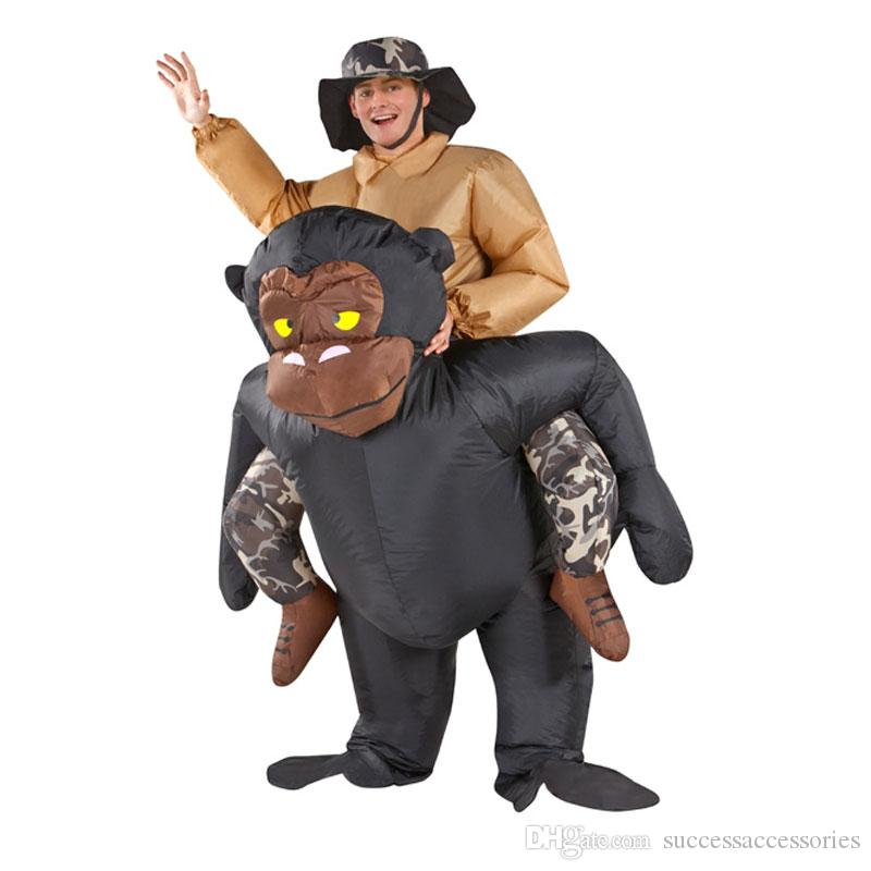 New Adult Inflatable Riding Gorilla Costume Halloween Carnival Costume Kit Inflatable Clothing Cosume For Men And Women Mascot Chicken Costume She Ra ...  sc 1 st  DHgate.com & New Adult Inflatable Riding Gorilla Costume Halloween Carnival ...