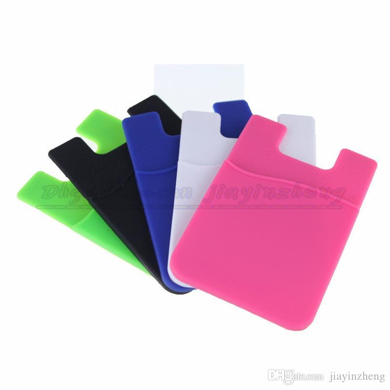Brieftasche Telefon Fall Brieftasche Kartenhalter Smart Wallet Silikon Handy Brieftasche Universal 3M Sticky Phone Wallet Kreditkarteninhaber OEM Auf Lager