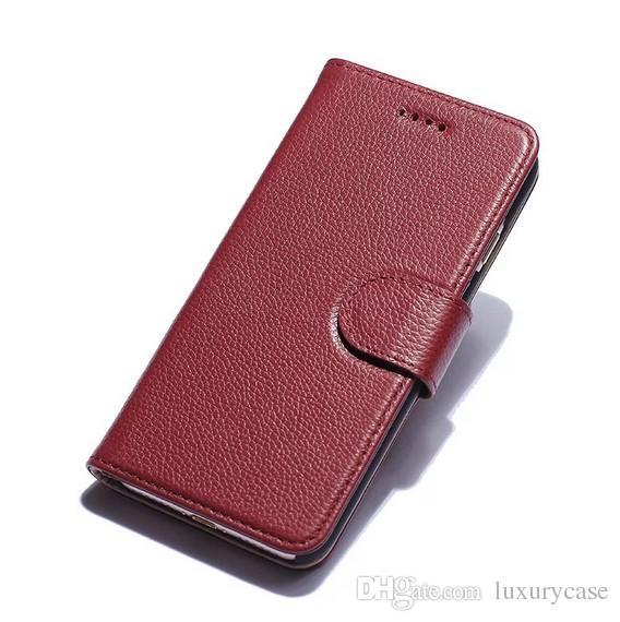 Pour Apple Iphone 7 Plus Cas De Luxe Véritable Portefeuille Flip Portefeuille Couverture Flip Stand Étui En Cuir Pour Apple Iphone 7 Plus