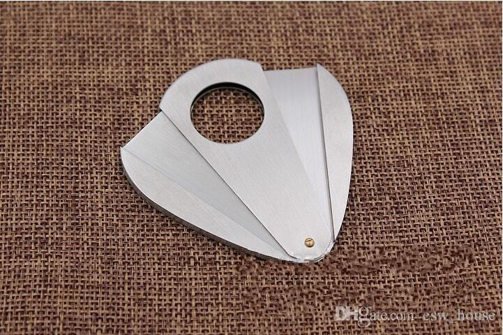 high Quality Portable Double Blade Stainless Steel Cigar Cutter Cigar Scissor Gift For Friend Smoking Cigar Guillotine Accessories