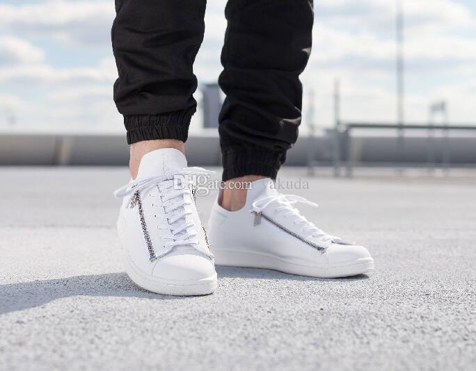 17ae965d26e ... 2016 New Mens Y3 Sneakers Stan Smith Zip Trainers Personality Men And  Women