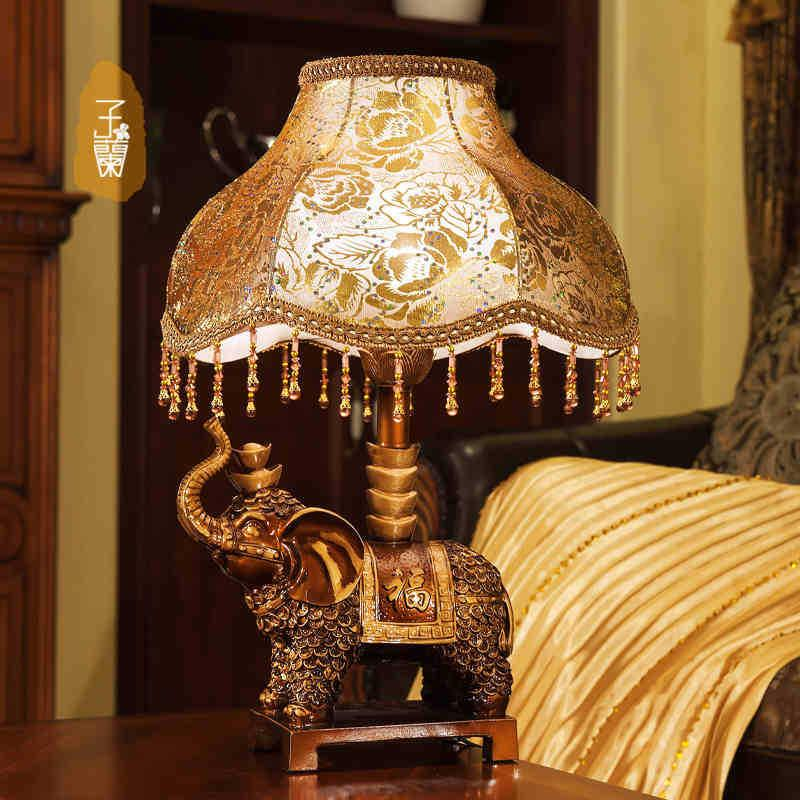 Exceptionnel 2018 E27 Elephant Table Lamp Luxurious Ancient Garden European Style  Bedside Lamps Living Room Decoration From Liuzedong4444, $120.81 |  Dhgate.Com