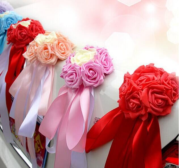 2018 china wedding car decoration with flowers pe artificial rose 2018 china wedding car decoration with flowers pe artificial rose flower ball decor ribbon butterfly knot rose balls for wedding car from zf89097 junglespirit Gallery
