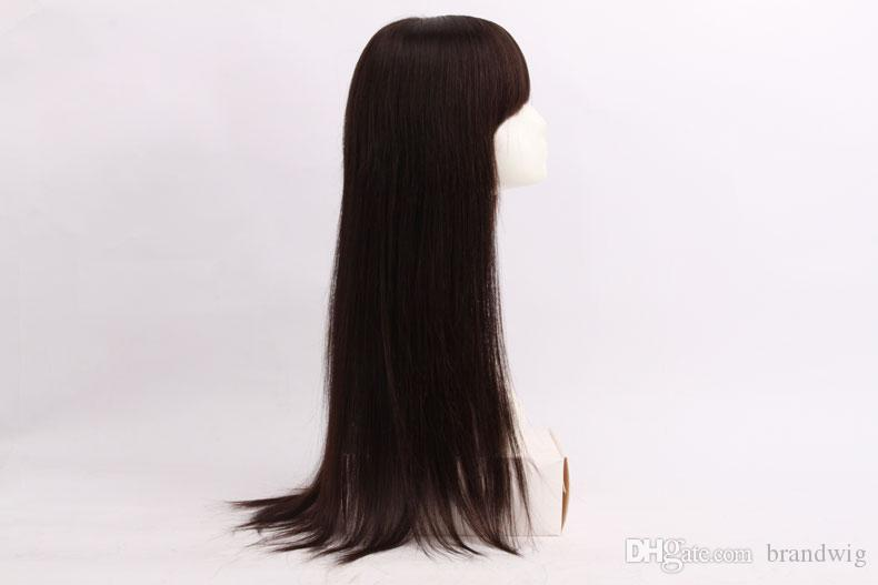Top Quality Full Lace Human Hair Wigs For Black Women Dyeable Unprocessed Virgin Straight Brazilian Hair Brazilian Full Lace Wig Silk Kabell