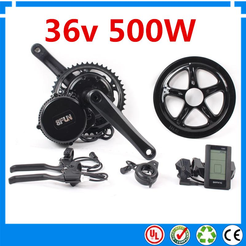 Electric Bike Motor Kit Price: 2019 Bafang BBS01 36V 500W Ebike Motor With LCD 8FUN Mid