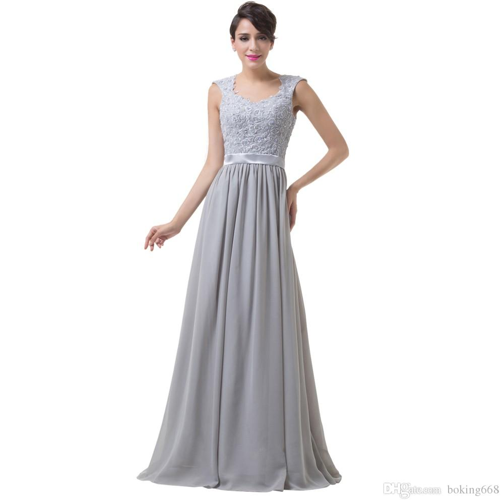 Blue Grey Purple Mother of the Bride Dresses 2019 Cap Sleeve Chiffon Long Evening prom Gowns for Bride Mother Dress