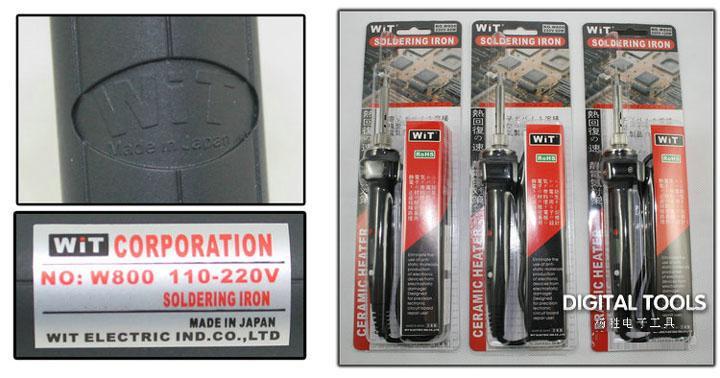 Japan WiT Marke Repair Tools W800 Elektrische Lötkolben 110 ~ 220 V Interne Wärme Typ Digitalanzeige Einstellbare Temperatur