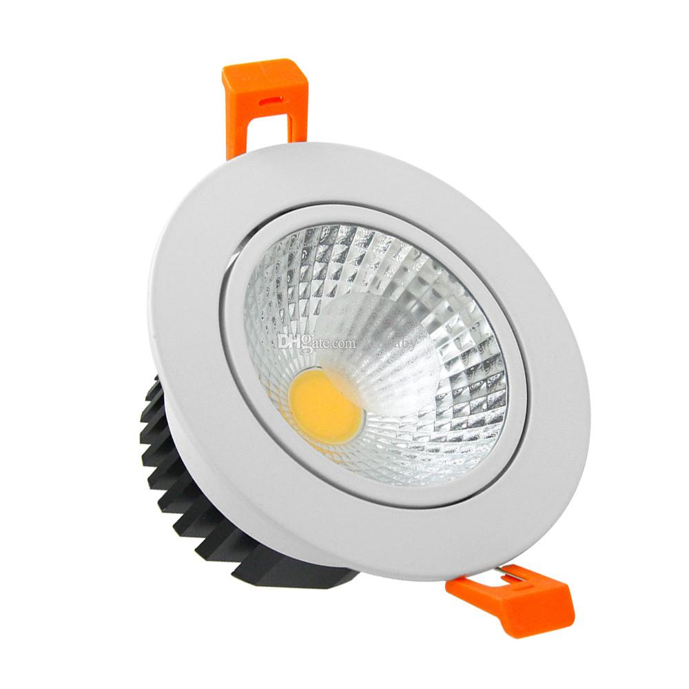Dimmable LED COB Downlights 21W 18W 15W 12W 9W LED lighting AC 110V 220V Frosted Glass Lens Recessed Ceiling Lamp Indoor Lighting