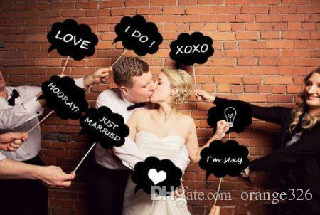 New Arrival 10 Pcs/lot DIY Funny wedding Photo Booth Props Lovely Party Wedding decoration Accessories props