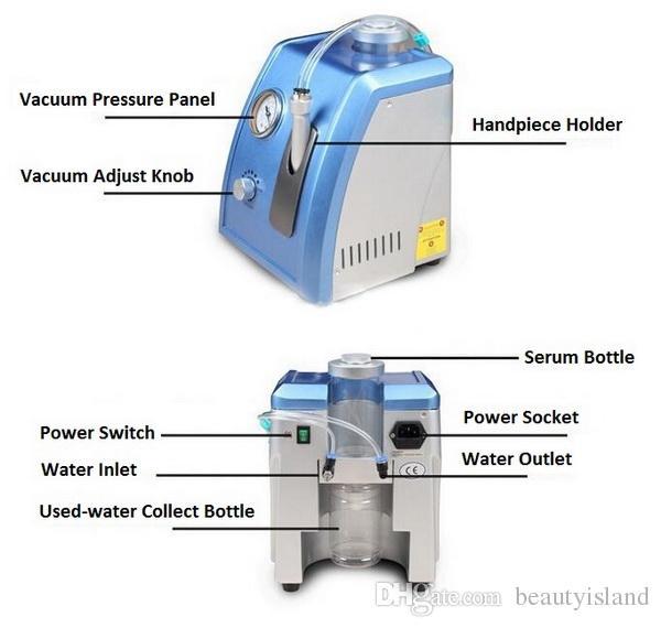 Uso domestico dell'acqua dermoabrasione Hydro dermoabrasione diamante microdermoabrasione pelle a buccia macchina il trattamento viso