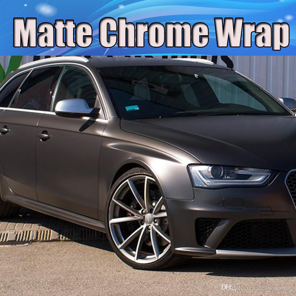 2019 Dark Grey Gunmetal Metallic Matte Vinyl Wrap For Car Styling