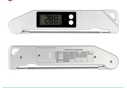 TS-BN61 Grillthermometer Grillthermometer Grillgabeln Klappgabel Elektronisches Thermometer Fleisch Gabel Grill Thermometer