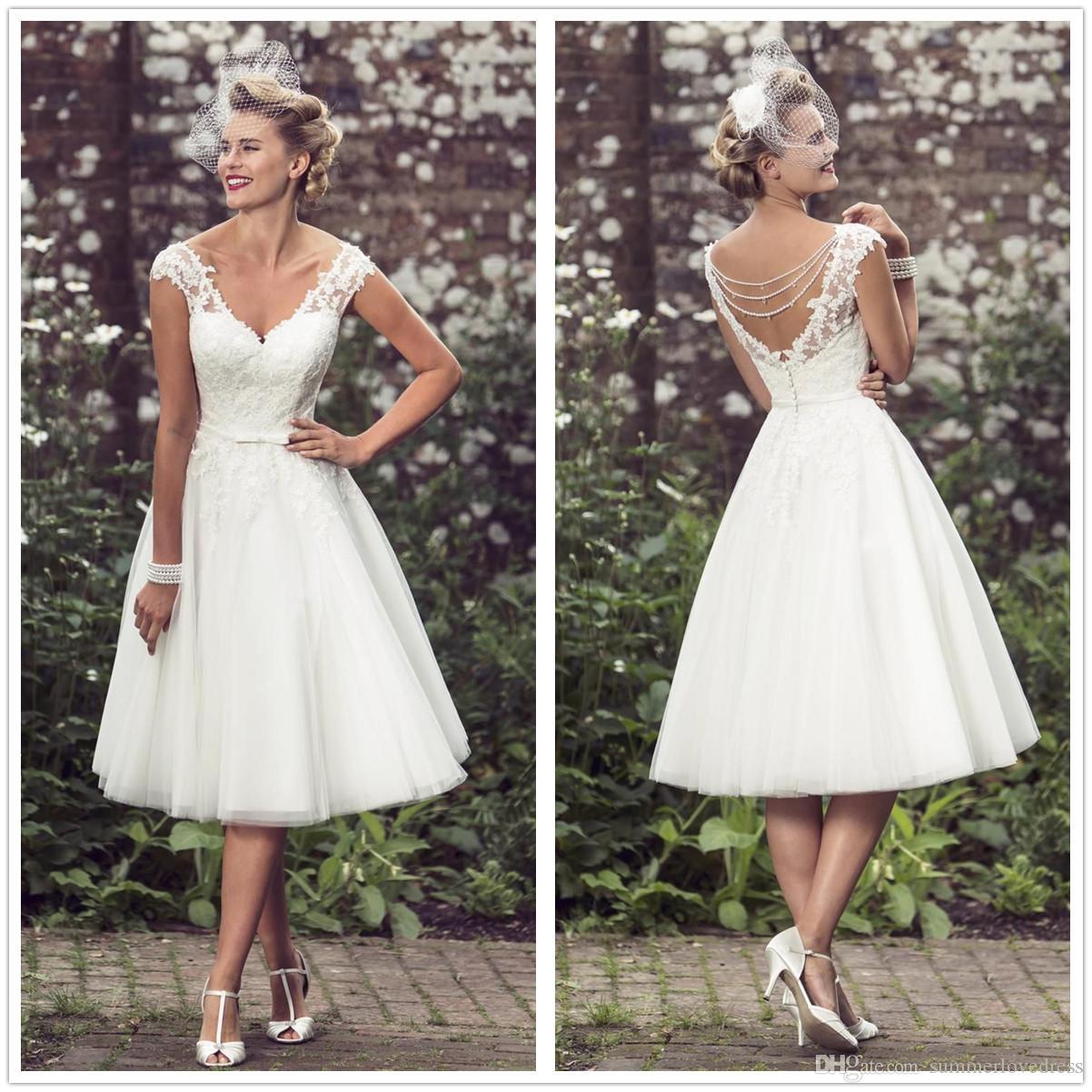 Vestidos de novia cortos estilo vintage