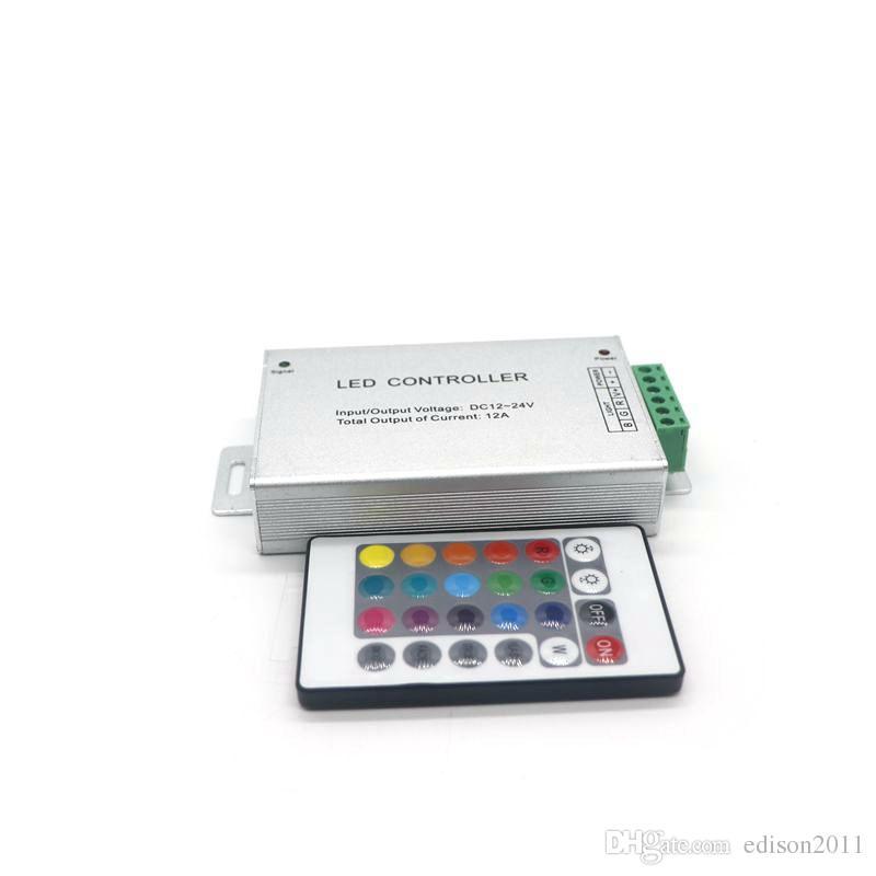 Edison2011 24 Key Wireless RF LED RGB Dimmer Remote Controller for RGB LED Strip / Module Lights DC 12V-24V 12A