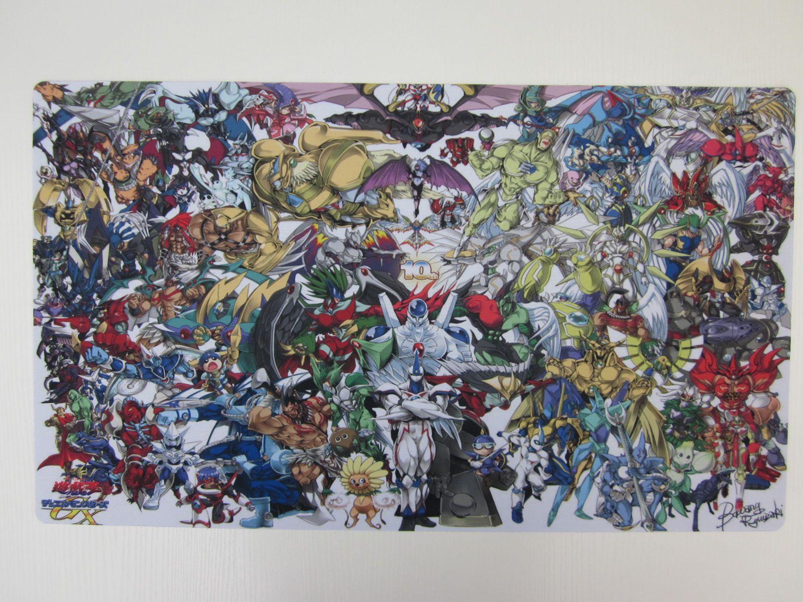 yugioh 10th anniversary playmat custom tcg mat cartoon tablecloth