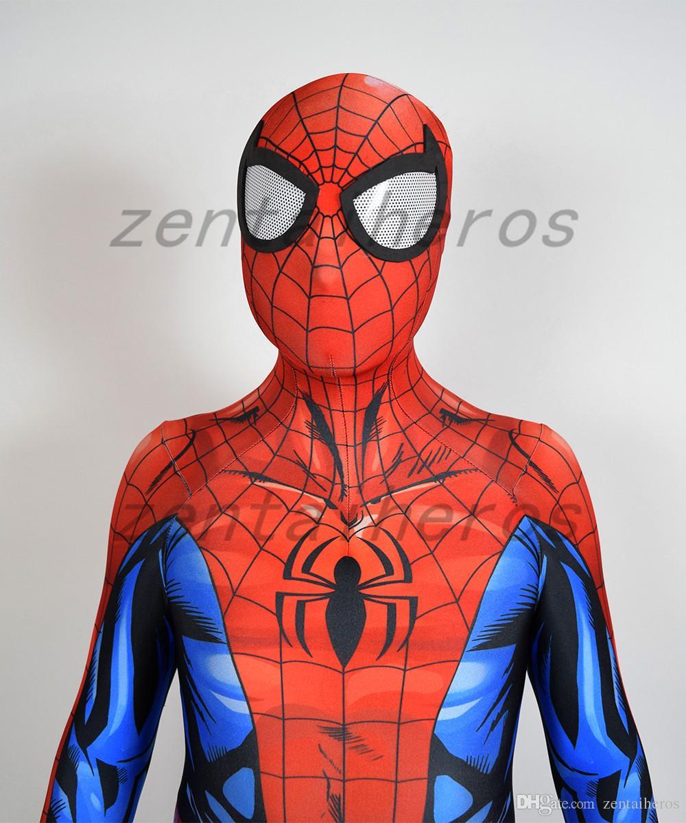 3D Impreso Último Traje de Spiderman Lycra spandex Cosplay Fiesta de Halloween Cosplay Zentai Suit.