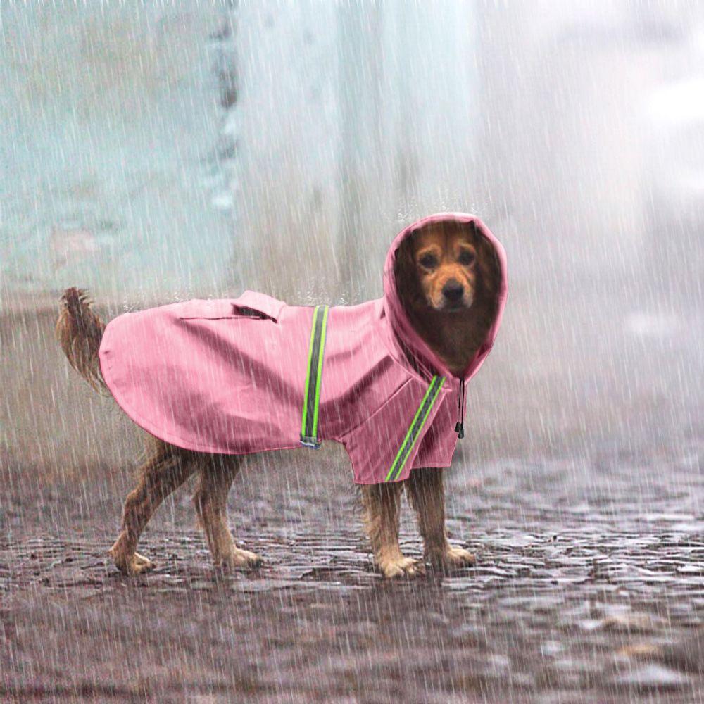 Imperméable Pour Chien Imperméable Chien Manteau Veste Chien Réfléchissant Imperméable Vêtements Pour Petit Moyen Grand Chiens Labrador S-5XL 3 Couleurs