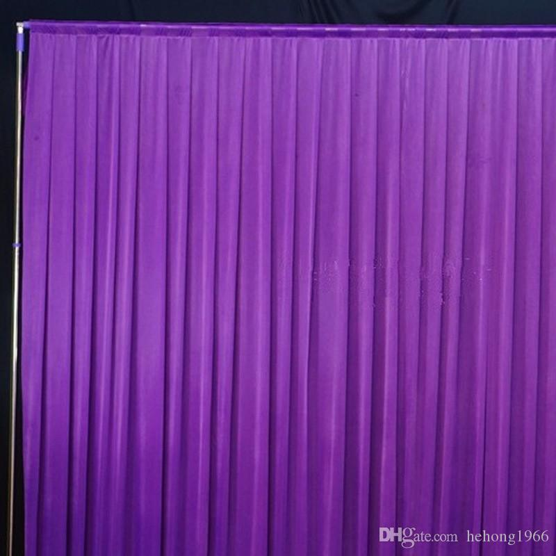 Background Drape Wall Valane Backcloth For Festival Celebration Wedding Stage Performance Backdrop Practical Silk Cloth Curtain 70by2 KK