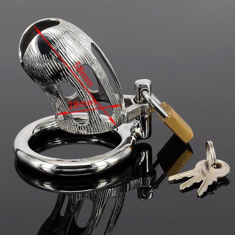 Latest Design Small Male Cock Cage,Stainless steel Bondage Chastity Device,Metal Peins Ring Lock Chastity Belt Adult Toys Sex Products