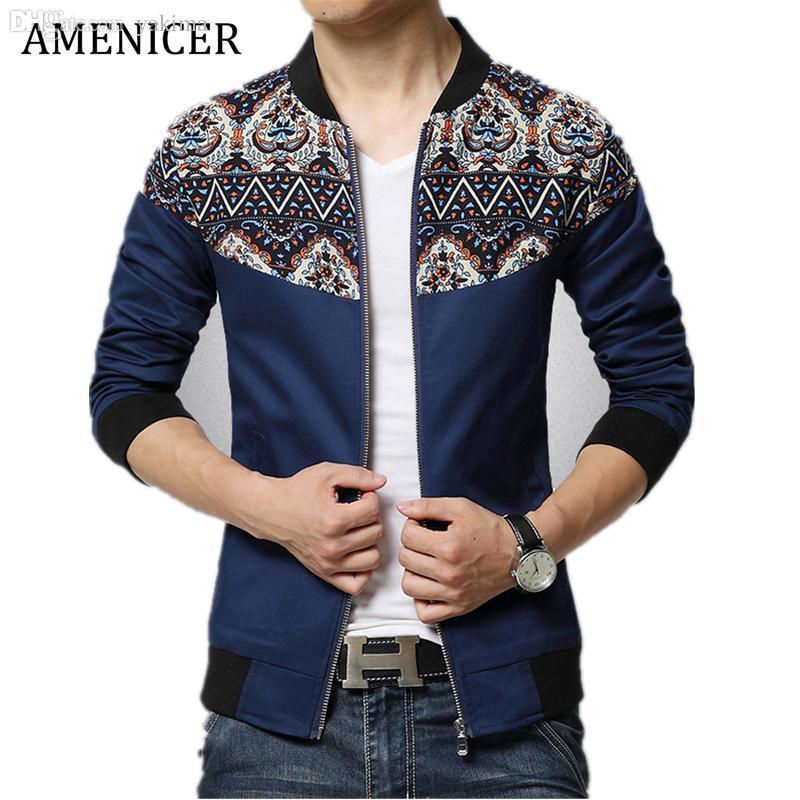 cff734e5f75aa Fall Mens Jacket Fashion 2016 Jaqueta De Couro Masculina Ropa Casual Hombre  Vintage Print Jackets Abrigos Y Chaquetas Hombre Avirex Leather Jackets  Nice ...