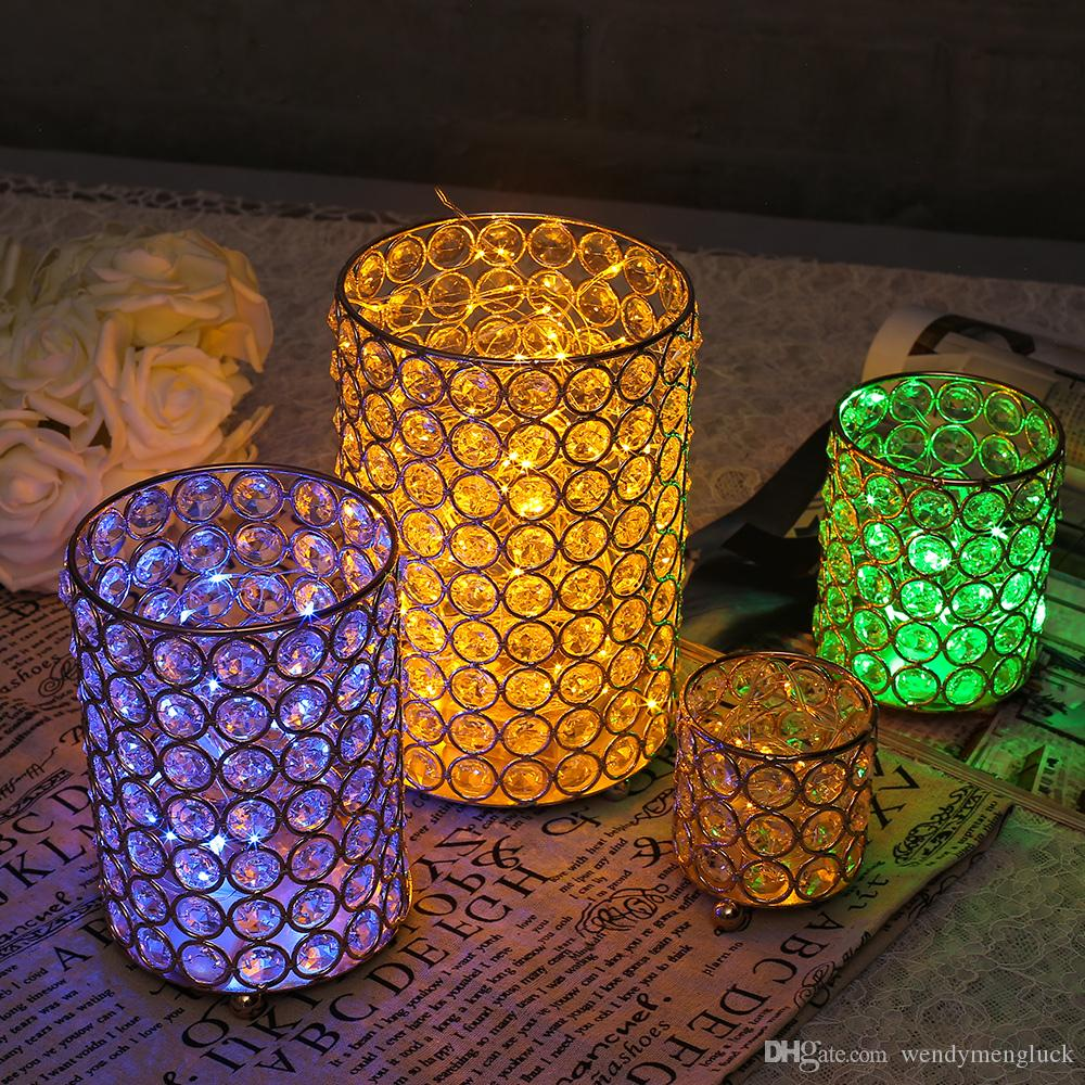Wedding Table Centerpieces Candle Holders Crystal Bowl Tealight ...