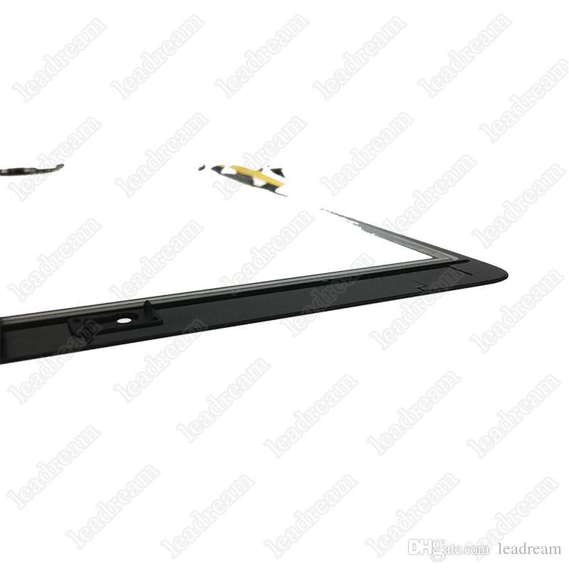 Pantalla táctil Panel de vidrio digitalizador Asamblea para iPad Air con botones Adhesivo envío gratis